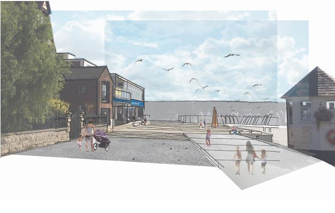 Vision - an idea of what Brightlingsea's Waterfront Square could look like (photo by The Landscape Partnership)