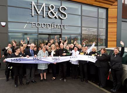 Marks and Spencer welcome first customers to new foodhall