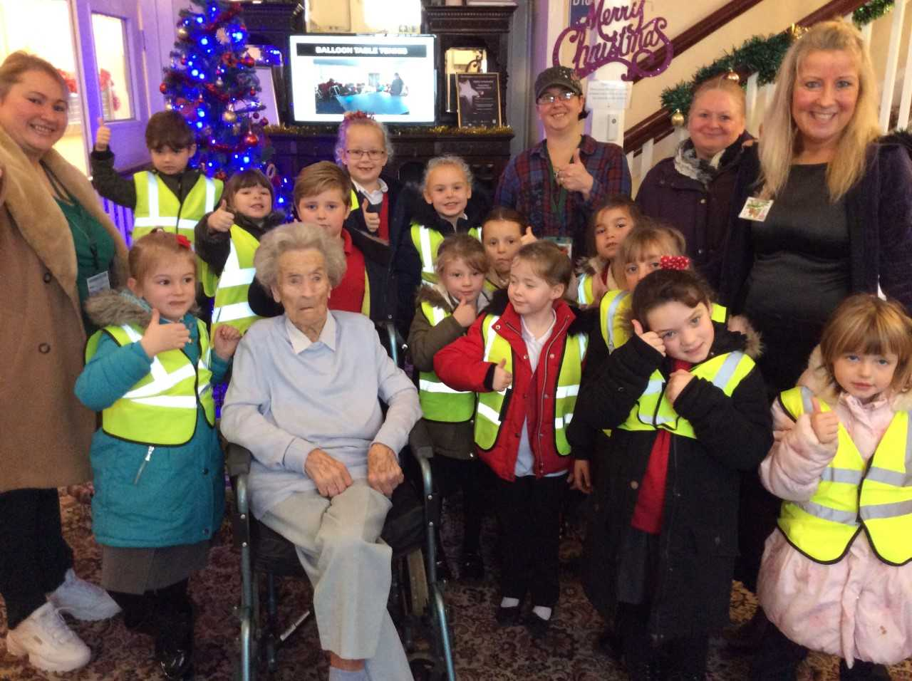 Pupils bring joy to Eileen, 106