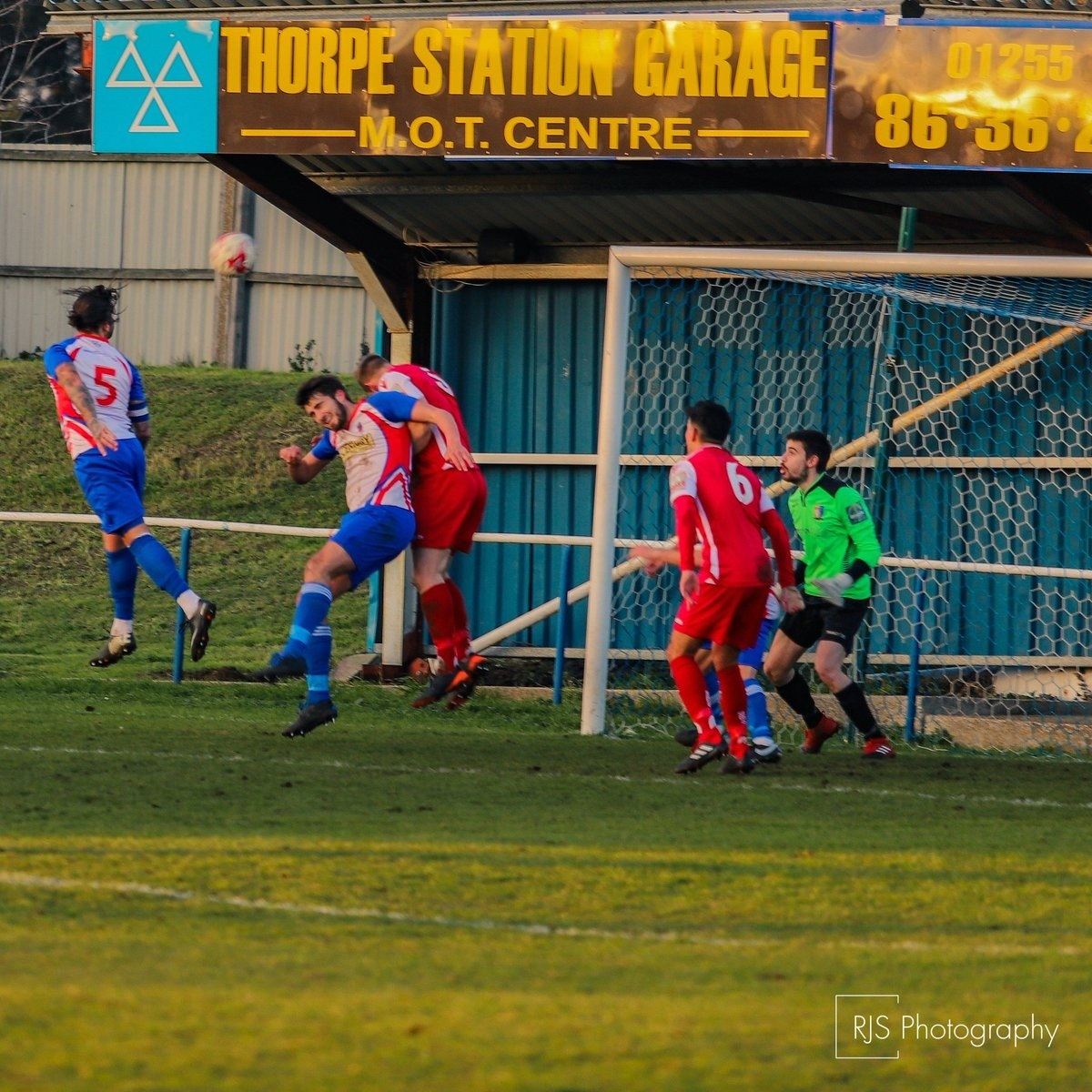 Wayne Chapman scores Clacton's opening goal against Norwich United Picture: Rob Smith (RJS Photography)