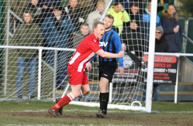 Chris Harris was among the goals for Halstead Town against Holland FC
