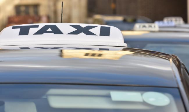 Taxi stock image