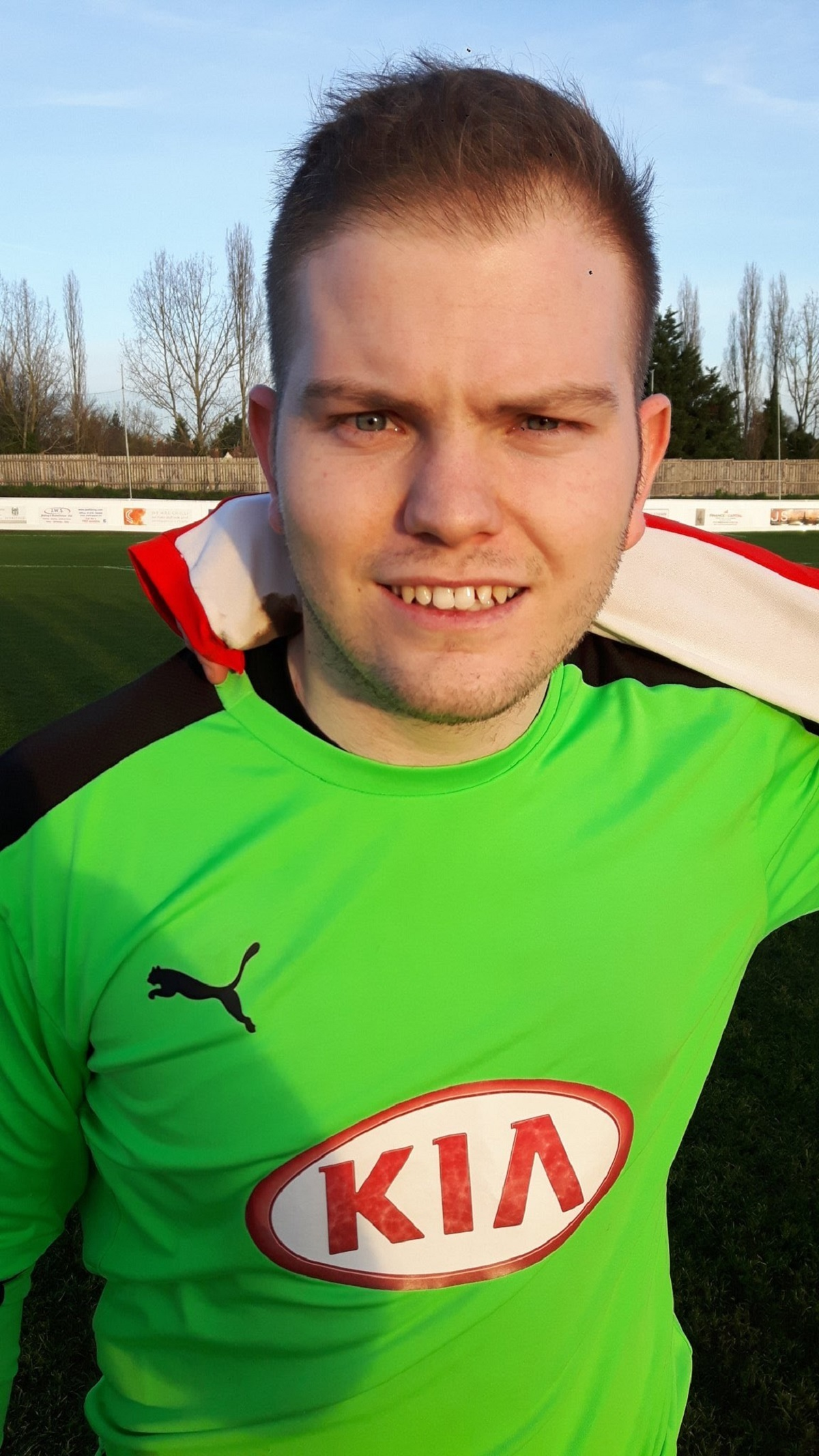 New Holland FC goalkeeper Mitchell Potter, who made his debut in Tuesday's cup victory against May and Baker