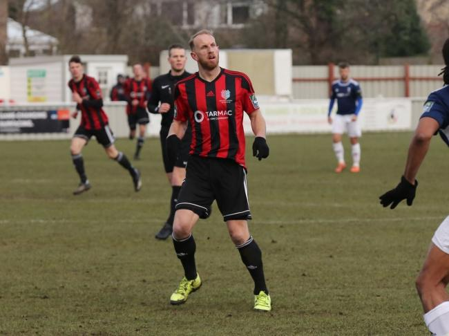 New challenge - Michael Brothers, pictured in action for Brightlingsea Regent, has been appointed Brantham Athletic manager Picture: Neil Payne