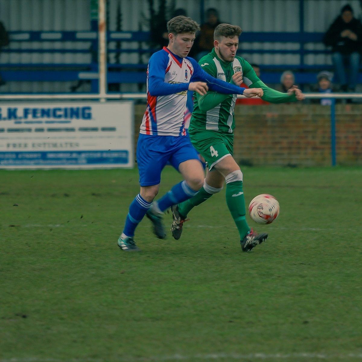 FC Clacton's two-goal hero Harry McDonald Picture: Rob Smith (RJS Photography)