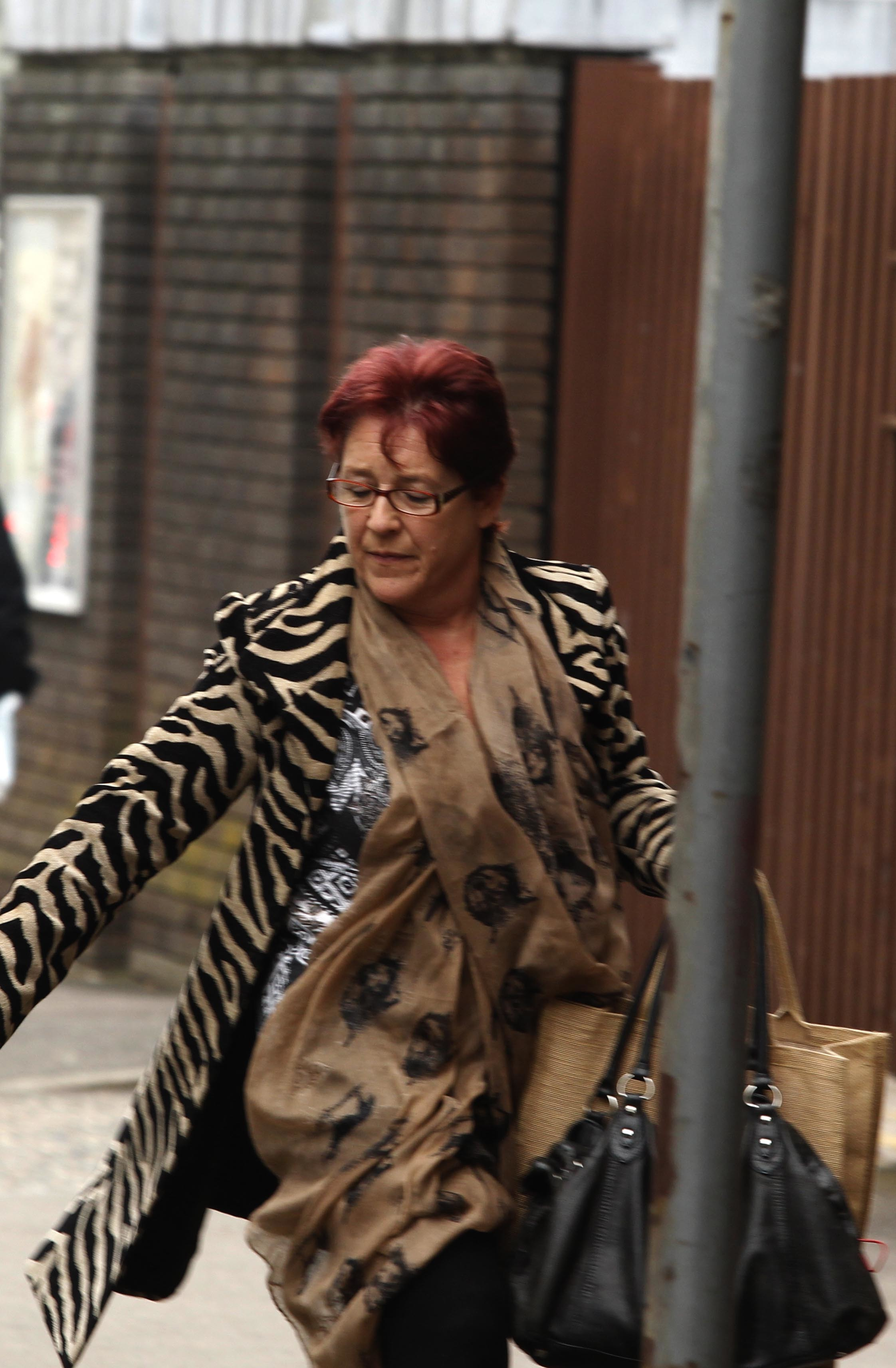 Chelmsford Crown Court on Wednesday morning Esther Rantzen and Penny Mellor ( red hair).court snatch .18/3/2015.