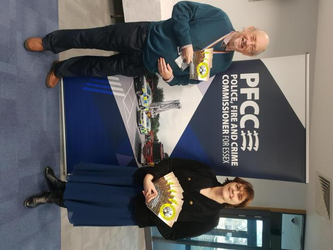 Guide - Essex County Neighbourhood Watch chairman Clive Stewart and deputy police, fire and crime commissioner Jane Gardner