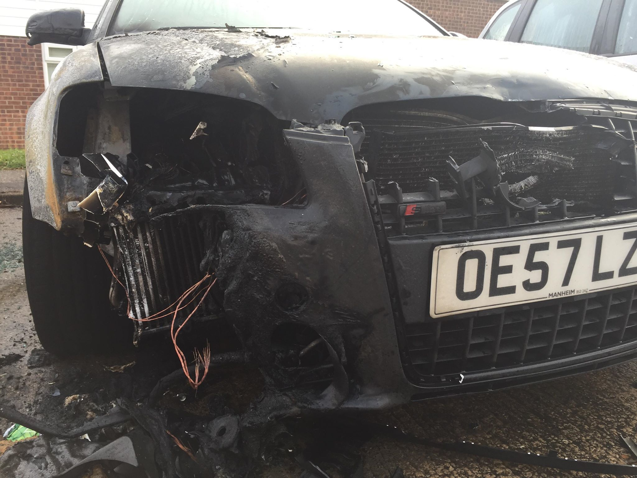 Audi torched in Clacton