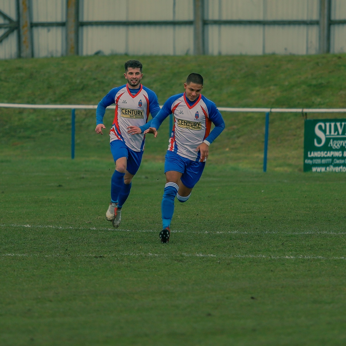 Karl Andrade (right) and Jake Clowsley have been among the goals for Clacton Picture: Rob Smith (RJS Photos)