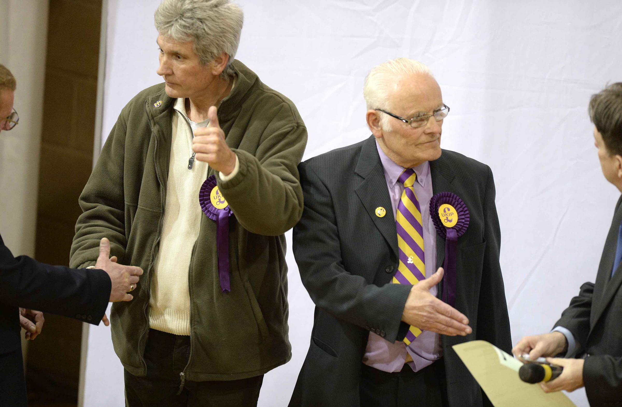 Election 2015 - Former Ukip councillors Kevin Watson and Roy Raby defected to the Conservatives