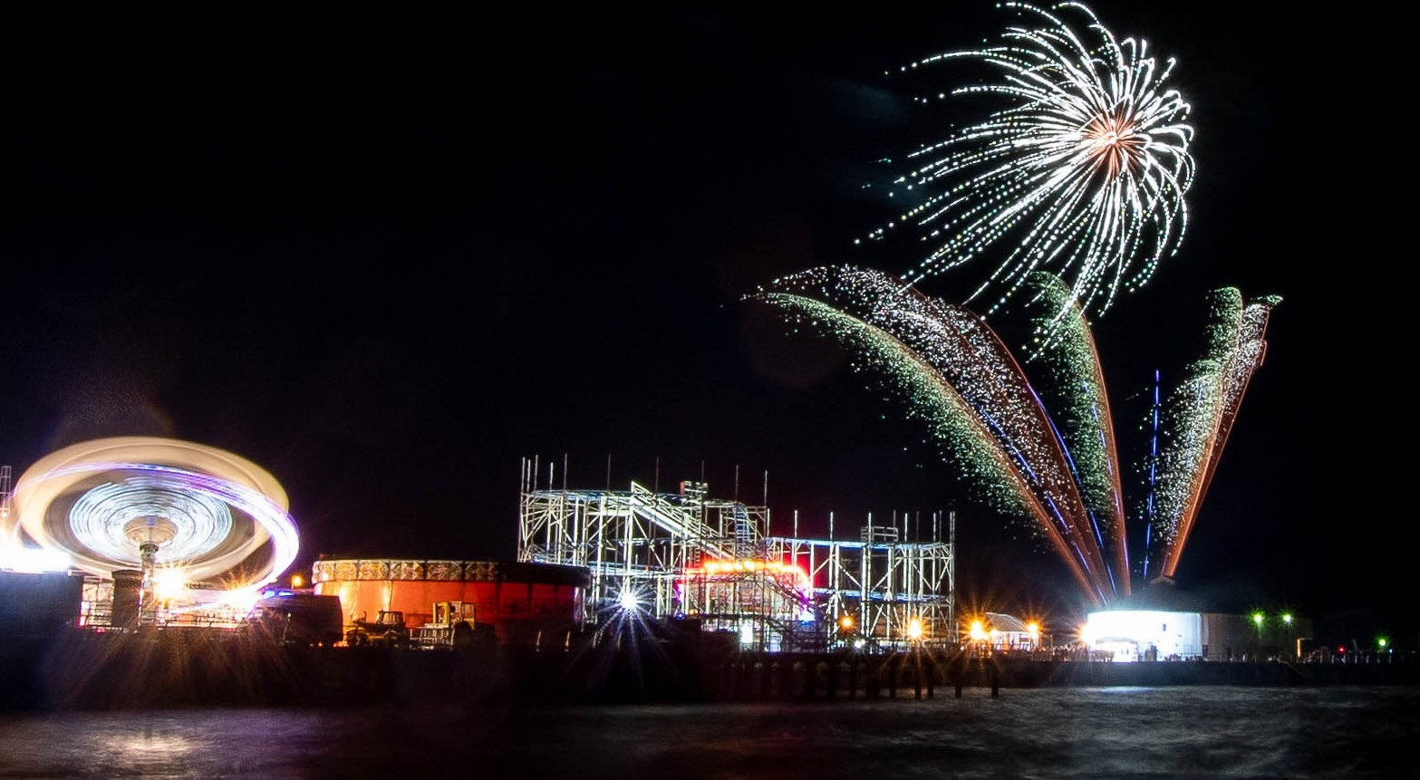 Fireworks - a display at Clacton Pier last year.