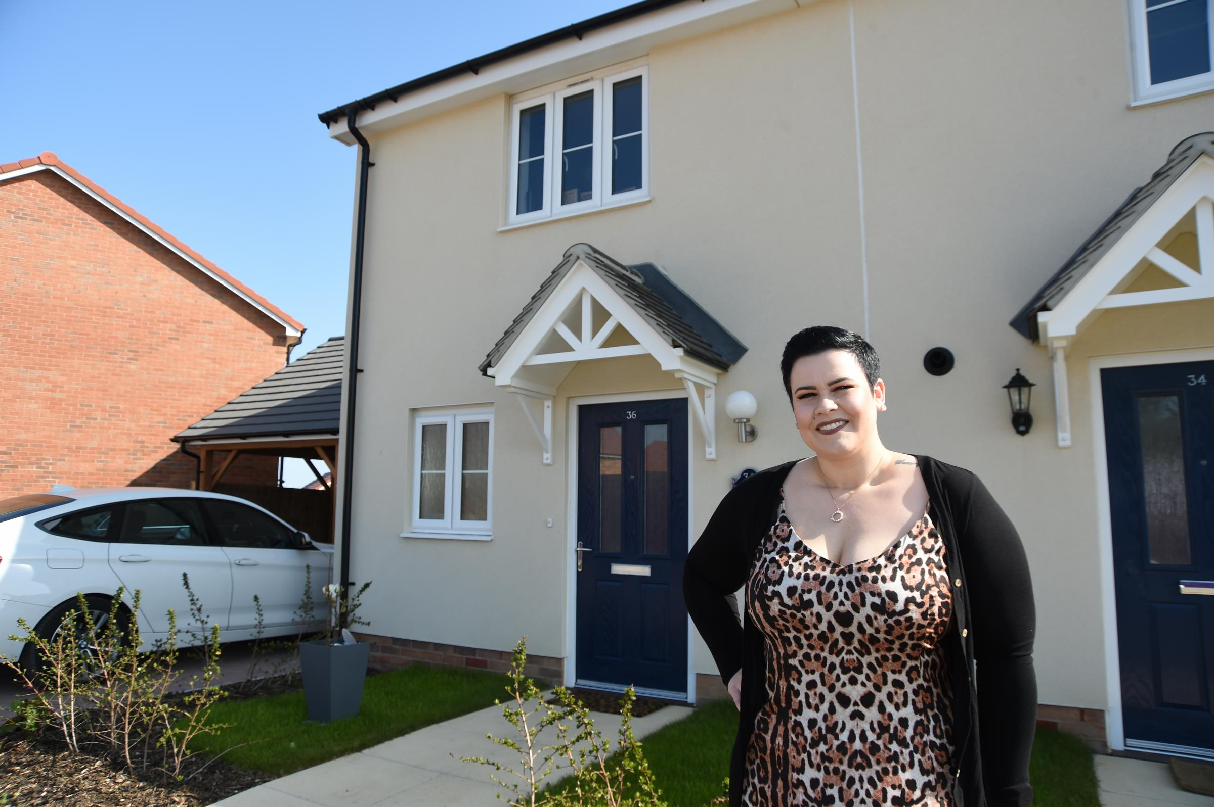 Help to buy: Katie Sampson has moved to Hamford Park, Walton