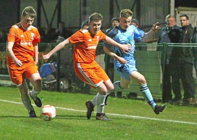 Young guns: Sam Foley and Brandon Hunt are two of the upcoming young stars at Holland FC.