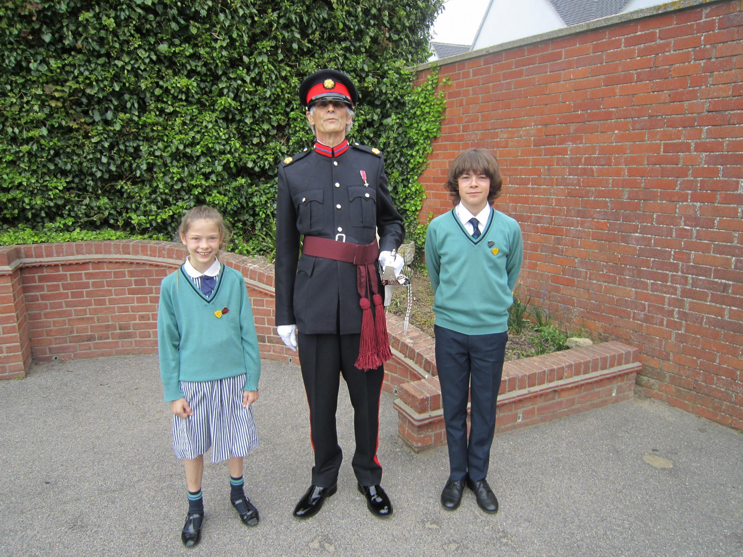 Deputy Lord Lieutenant and St Philomena's head boy Albie Bareham and head girl Isabelle Ong.