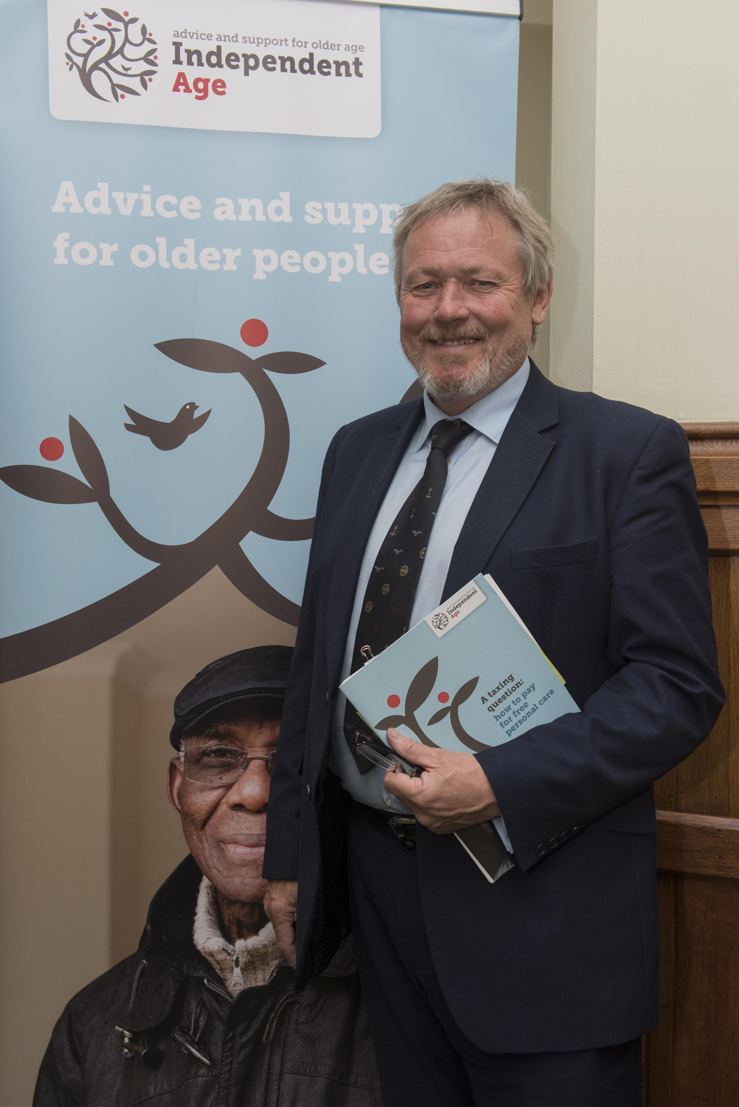 Funding crisis: Giles Watling has backed calls by Independent Age for free social care for the elderly. Picture: Danny Fitzpatrick
