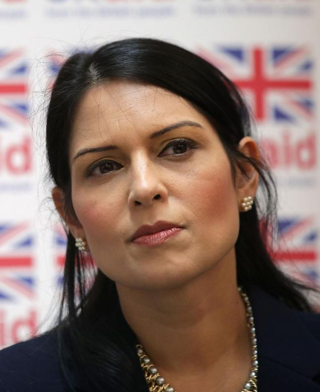 File photo dated 20/03/17 of Priti Patel, who is backing plans to take back control of the foreign aid budget. PRESS ASSOCIATION Photo. Issue date: Monday March 18, 2019. The former international development secretary is calling for urgent reforms to how