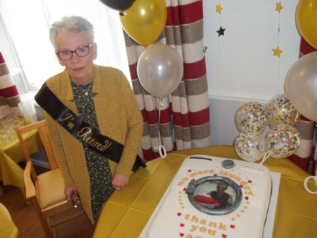 Retiring - Ann Davis hangs up her tabard after 23 years at Corner Lodge Care Home