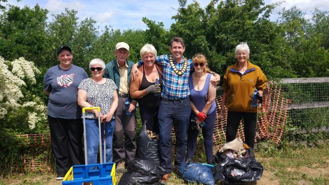 Spruce up: Dan Land with the Great Clacton and Holland litter pickers
